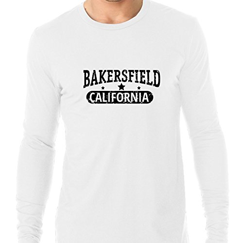 Hollywood Thread Trendy Bakersfield, California With Stars Men's Long Sleeve -