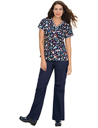 KOI 378PR Women's Stretch Kayla Limited Edition Top (Covered In Flowers, 2X-Large)