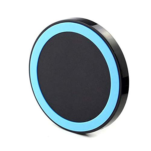 Price comparison product image Buybuybuy Wireless Charger,  Qi-Certified Ultra-Slim Wireless Charger Compatible iPhone X,  iPhone 8 / 8 Plus,  Galaxy Note9 / S9 / S9 Plus / NOTE 8 / S8 / S8 Plus More,  PowerPort Wireless 5 Pad (Blue)