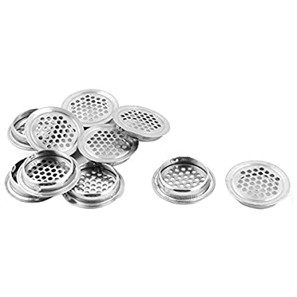 eDealMax metal del hogar Utensilios de cocina Tamiz Tamizar el filtro de drenaje Alimentación 10pcs tono