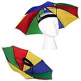 "Windy City Novelties 13"" Rainbow Umbrella Hat for Adults and Kids"