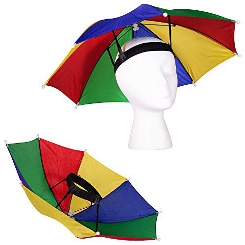 Windy City Novelties 13' Rainbow Umbrella Hat for Adults and Kids