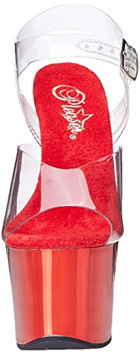 buy cheap 100% guaranteed cheap sale many kinds of Pleaser Women's Sky-308 Pump Clear Red how much sale online eastbay for sale sale recommend V9EWv2