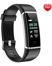 AUSUN Fitness Armband, FT901HR Fitness Tracker mit Pulsmesser Wasserdicht IP67 Aktivitätstracker Schrittzähler Uhr Pulsuhren Fitness Uhr Vibrationsalarm Anruf SMS Beachten für Kinder Damen Herren