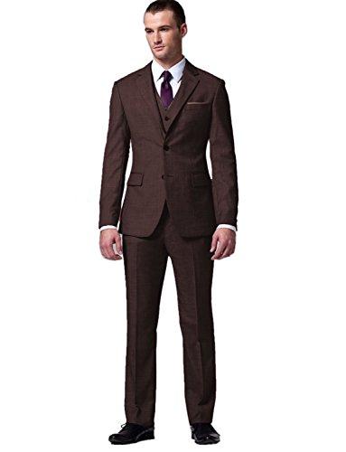 Brown 3 Button Suit - 3