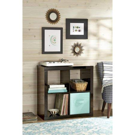 Better Homes and Gardens* Wood Storage Square Organizer 4-Cube in High Gloss Black Lacquer