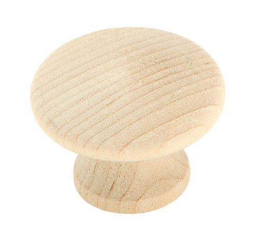 (Amerock BP811WD Allison Value Hardware Unfinished Wood Round Knob, Birch, 1-1/4-Inch by Amerock)