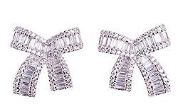 Rhinestone Bow-knot Designer Earrings For Women