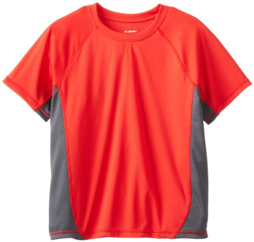 Kanu Surf Big Boys' CB Swim Shirt, Red, Large (12) swim shirts red 4