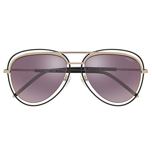 JINSEY Classical Aviator Sunglasses Metal Frame Nylon Lens UV 400 - - Eyewear Sale Quay