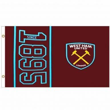 West Side Original Clothing (Giant West Ham United (Premier League) Crest Flag)