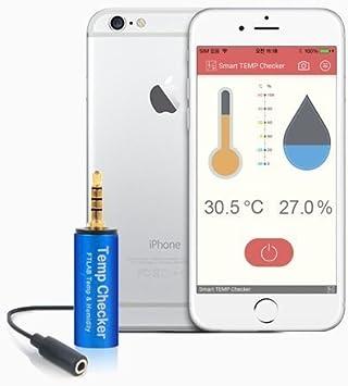 Smart Temp Checker termómetro higrómetro medidor de humedad de temperatura para Smartphone Android iOS APP: Amazon.es: Electrónica