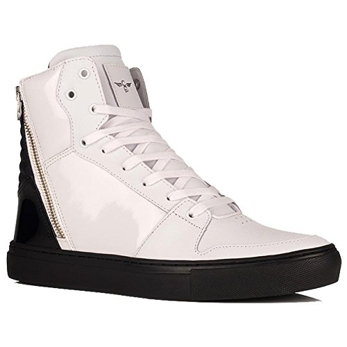 Creative Recreation Adonis Mens White Black Patent Leather Sneakers Shoes 10.5