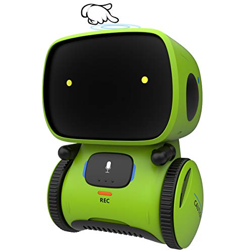Gilobaby Kids Robot Toy, Talking Interactive Voice Controlled Touch Sensor Smart Robotics with Singing, Dancing, Repeating, Speech Recognition and Voice Recording, Gift for Kids Age 3+ (Green)