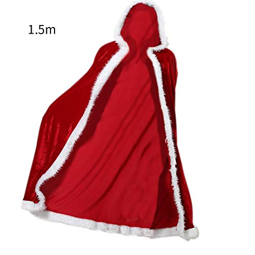 Party Diy Decorations - 2019 Red Cape Christmas Stage Performance Party Costumes Beauty Cloak Festive - Party Decorations Party Decorations Cloak Black Cape Halloween Costum Woman Women Coat C ()