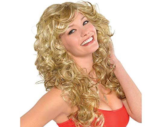 AMSCAN '70s Bombshell Wig Halloween Costume Accessories, Blonde, One -
