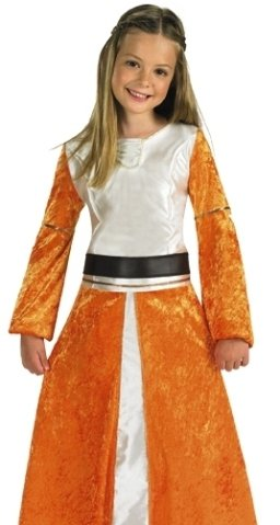 de365ae8c959 Kids Halloween Disney Girl Costume Narnia Lucy Outfit M: Amazon.co ...