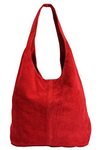 Sac femme cuir en WL818 Rouge de courses pour 6pxdYqfv