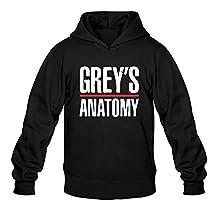 Grey's Anatomy Logo Hoodies XL Black For Men 100% Cotton