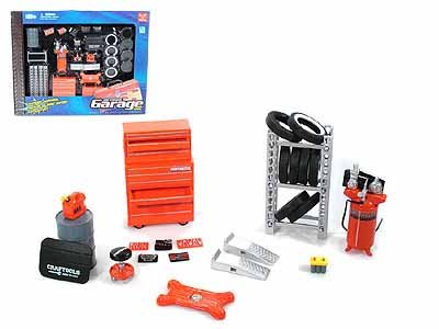 Garage Accessory Set for 1/24 Scale Cars (Boxed)