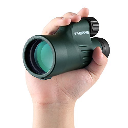 Wingspan Optics Adventure 10X50 Wide View Monocular. New Cutting-Edge Optical Structure Puts Unrivaled Brightness and Clarity in Your Hands. For Bird Watching and Wildlife Viewing. Waterproof.