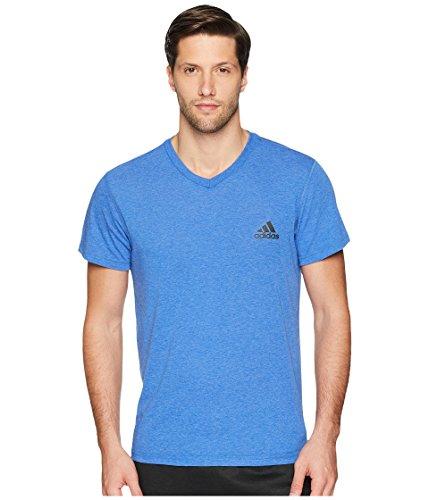 adidas Mens Training Ultimate Short Sleeve V-Neck Tee, Collegiate Royal/Collegiate Royal, Large