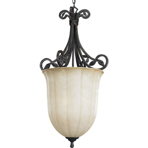 Progress Lighting P3686-84 3-Light Le Jardin Inverted Bowl, Espresso