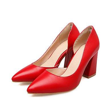 Le donne sexy elegante sandali donna tacchi Primavera Estate Autunno Inverno scarpe Club PU Office & Carriera Party & abito da sera Chunky rosso tacco Grigio Beige , grigio , us7.5 / EU38 / uk5.5 / CN