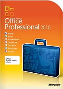 Microsoft Office Professional 2010  (2PC/1 User) [OLD VERSION]