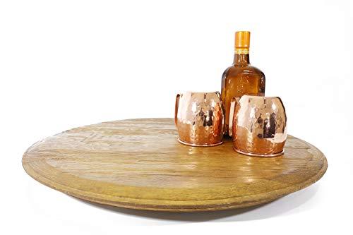 "Oak Wood Wine Barrels - OWWB Rotating Lazy Susan Server 22"" (Amazon-Only Offer)"
