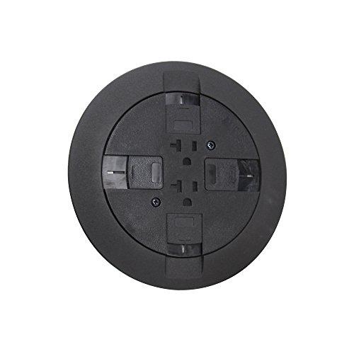 Wiremold RC7ATCBK Flush Multi-Service Poke-Thru Device Black RC7 Series (Wiremold Floor Box)