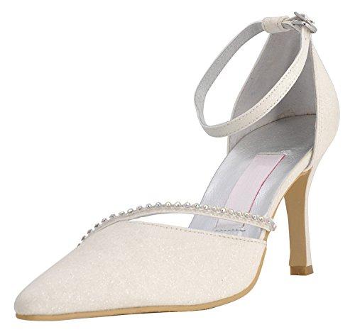 Alla Moda Kevin Matrimonio Da Scarpe avorio Beige Fashion Donna wqq16Sg