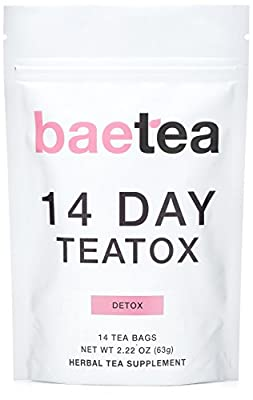 Baetea 14 Day Teatox Detox Herbal Tea Supplement (14 Tea Bags)