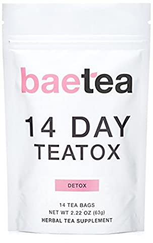 Baetea 14 Day Teatox Detox Herbal Tea Supplement (14 Tea Bags) (Pills Fast)