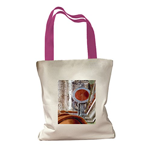 St Augustine In Prayer #2 (Botticelli) Canvas Colored Handles Tote - Hot - Center Shopping St Augustine
