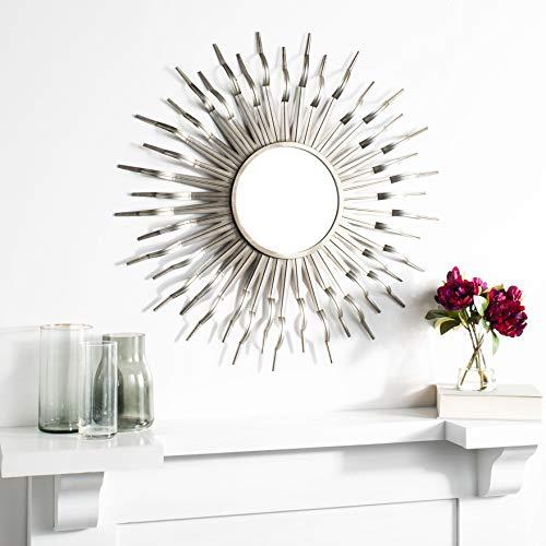 Safavieh Home Naya Gunmetal Sunburst 36-inch Decorative Accent Mirror
