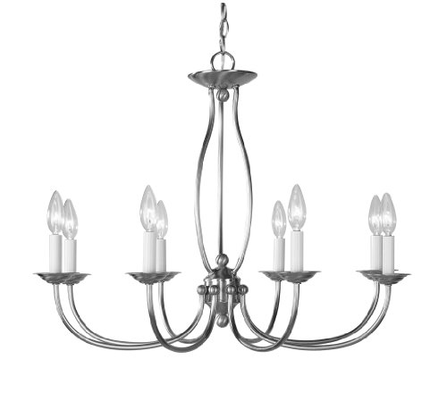 Livex Lighting 4158-91 Chandelier with No Shades, Brushed Nickel