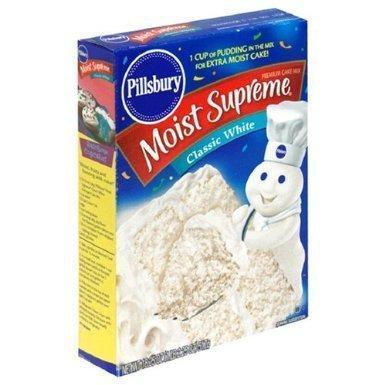 Pillsbury Moist Supreme Classic White Cake Mix (4 Pack) (Pillsbury Classic White Cake Mix)