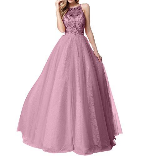 Bodenlang Langes Partykleider La Promkleider Abendkleider Alt mia Ballkleider Brau Tuell A Linie Rosa Festlichkleider PTfxn1T