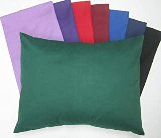 product image for SheetWorld Comfy Travel Pillow Case - 100% Soft Cotton Percale - Burgundy - Made In USA
