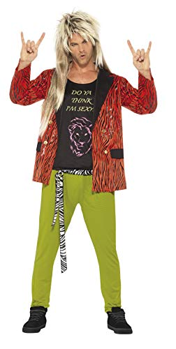 Men's 80's Rock Star Costume, Jacket, pants and vest