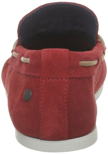 Base London Joplin - Mocasines de cuero Hombre Rojo - Rouge (Suede Red)