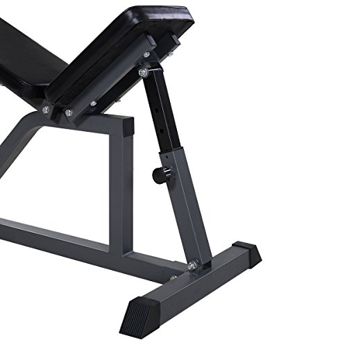Goplus Folding Sit Up AB Bench Fly Press Gym Adjustable Incline Flat Weight Bench