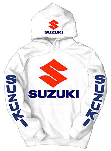 Suzuki Logo Hoodie, XL White (Suzuki Apparel)