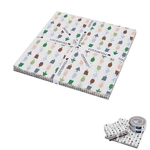 [해외]COTTONVILL MallangLuna Seasons Collection Precut Quilting Fabric Bundle 48pcs (10 Squares) / COTTONVILL MallangLuna Seasons Collection Precut Quilting Fabric Bundle 48pcs (10 Squares)
