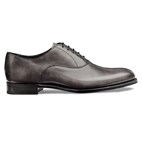 Oxford, Welland en Cuir de Veau Gris Anthracite Grey
