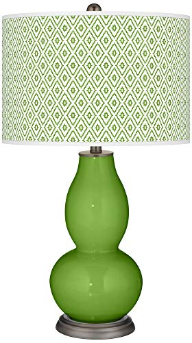 (Rosemary Green Diamonds Double Gourd Table Lamp - Color + Plus)