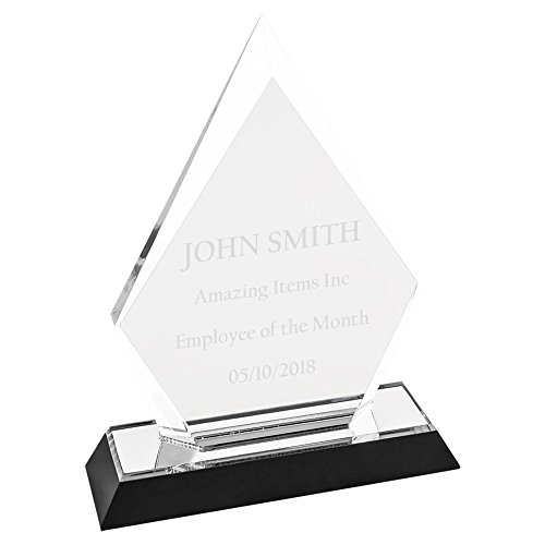 Amazing Items Personalized Winner Award for Work and School Achievement or Graduation Plaque (Arrowhead, Silver) - Acrylic Trophy