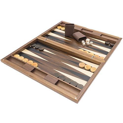 (Regencychess Dal Negro London Walnut and Tulipwood Backgammon)