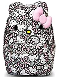 HELLO KITTY PINK/GREY/WHITE ALL OVER PRINT BACKPACK with 3D Pink Bow